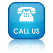 """Call Us"" Blue Square Button"
