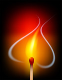 Love heart flame