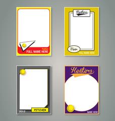 Softball Trading Card Frames