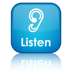 """Listen"" (ear icon) blue button"