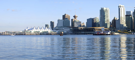 Canada Place and downtown Vancouver BC.