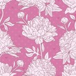 Floral seamless vector pattern with peonies