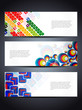 set of abstract vector web header/banner designs