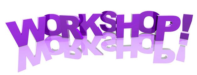 3D Buchstaben violett - WORKSHOP