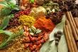 Obrazy na ścianę i fototapety : Spices and herbs
