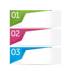 One two three - vector paper banner options
