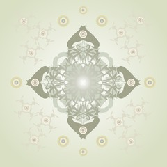 Ornate vector cross on an abstract background