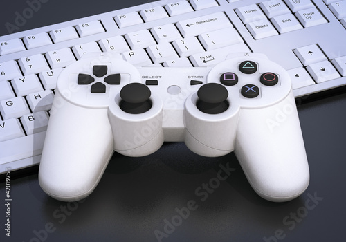 3D Playstation controller on keyboard