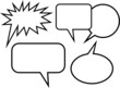Simple Cartoon Blank Word Balloons