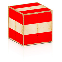 old box with austrian flag on it