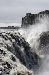 Dettifoss waterfall most powerful in Europe.