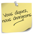 post-it ; cliquer charger