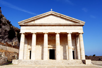 Greek temple in Kerkyra