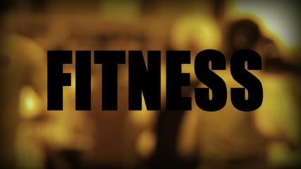 Fitness - Jogger im Hintergrund (Gold)