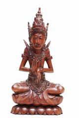 Thai Buddha wood carving.