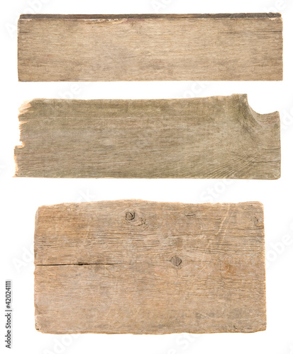 wood signboard isolated on white