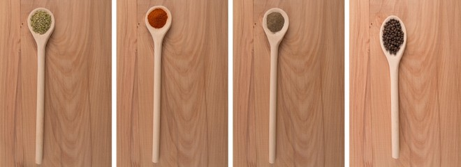 Food ingredients - Spices: pepper, paprika and oregano