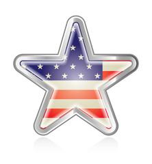 Metallic America Star