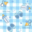 baby boy wrapping and background. icon seamless texture