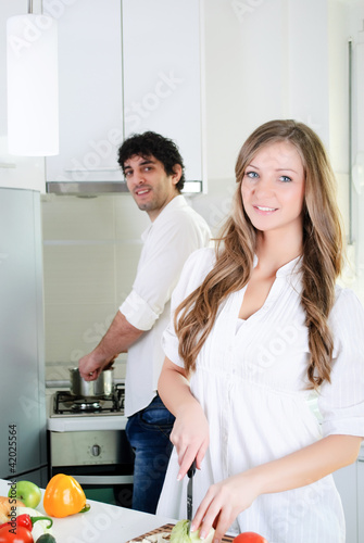 I love to cook together
