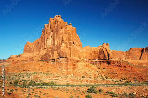 A view of Arches national Park