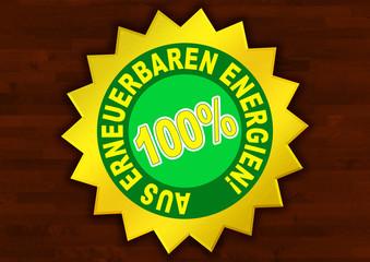 Aus 100% erneuerbarer Energien