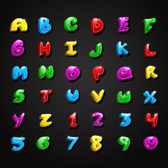 Glossy Alphabet and Number Collection