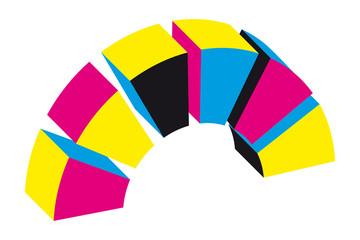 Logo Signet Druckerei Testbild Farben mit QXP9 Datei