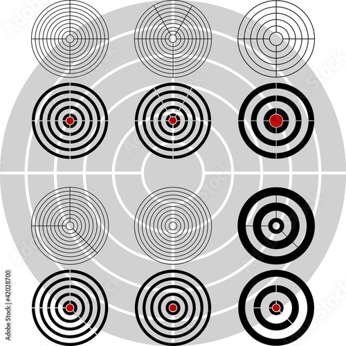 stencils of targets. second variant