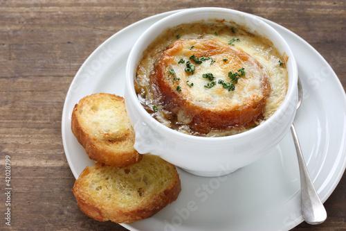 In de dag Buffet, Bar french onion gratin soup