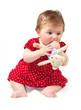 bambina con peluche