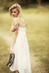 Beautiful Girl in the Meadow