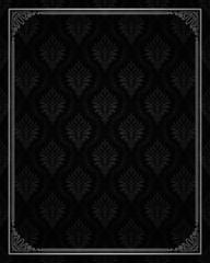 Seamless damask with ornamental frame