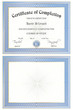 Certificate(with and without sample text for JPG users)