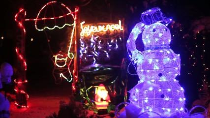 illumination de Noel avec bonhomme de neige