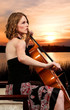 Woman cellist