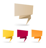 Colorful polygonal origami banners. Place your text here poster