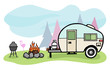 Camper illustration - 42037322