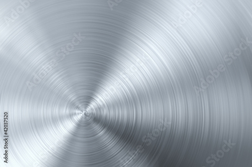 Circular brushed metal