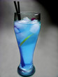 alcohol blue cocktail drink with lemon
