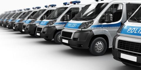 Einsatzfahrzeuge der Polizei