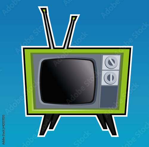 Retro TV illustration.