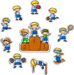 мультфильм спорт значок