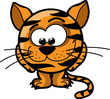 Постер, плакат: Мультфильм милый тигр вектор