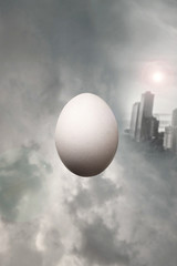 Surrealist egg