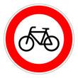Verbot für Radfahrer – RGB-Rot