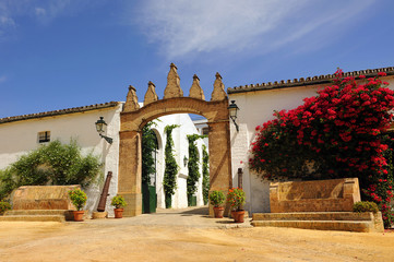 Cortijo andaluz, hacienda rural