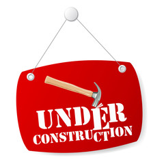 Under construction sign board