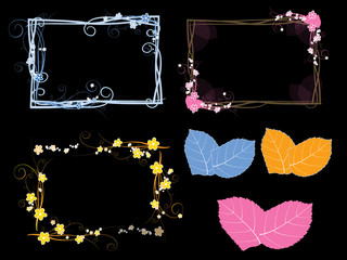 Colorful floral frames,