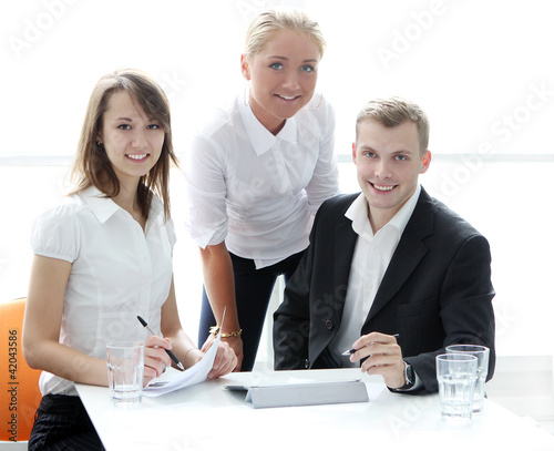 Group of businesspeople on meeting